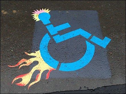 Not-so-Handicapped Parking Space