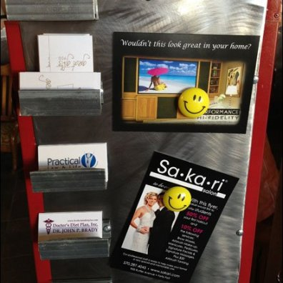 Smiley Business Card Board Main
