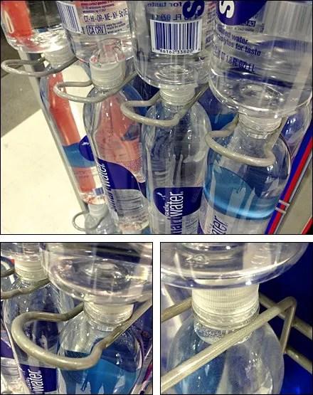 Loop Hook Feeds Bottled Water