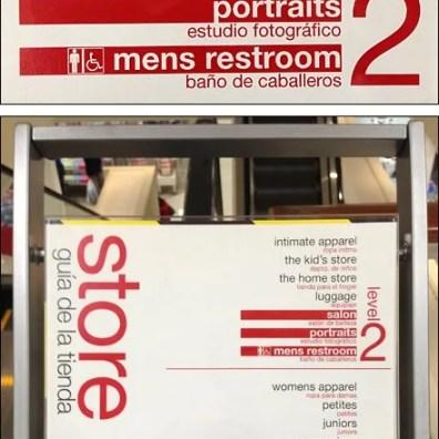 Bi-Lingual Store Navigation Aux