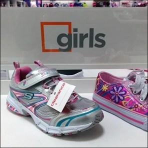 Closeup Square Branding Girls Shoes Main