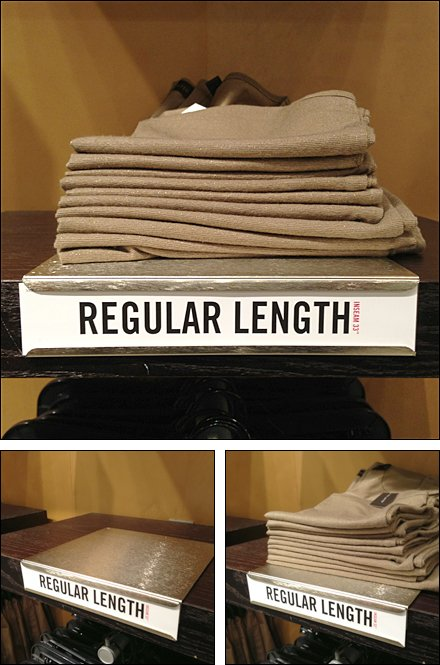 Inseam Size as Visual Footnote Shelf Overlay