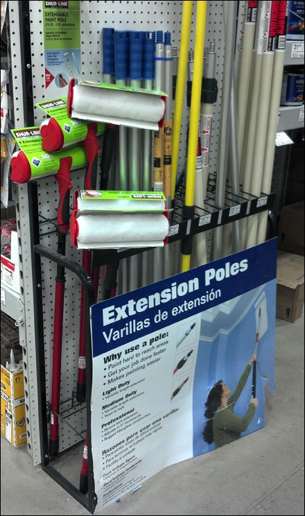 Extension-Pole Display Extender