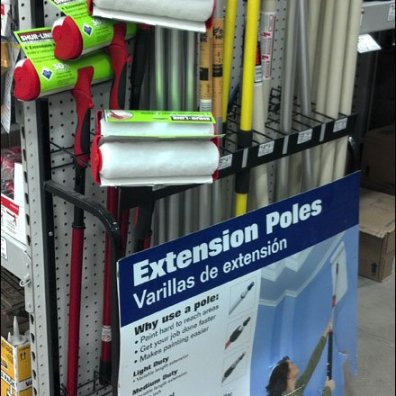 Pegboard Extension Pole Rack Main