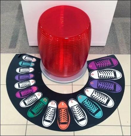Shoe Size Arc as Floor Graphic