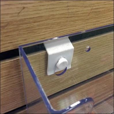 Slatwall Button vs Pin-Up Hook