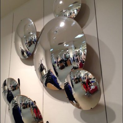 Convex Anti-Theft Mirror or Wall Art