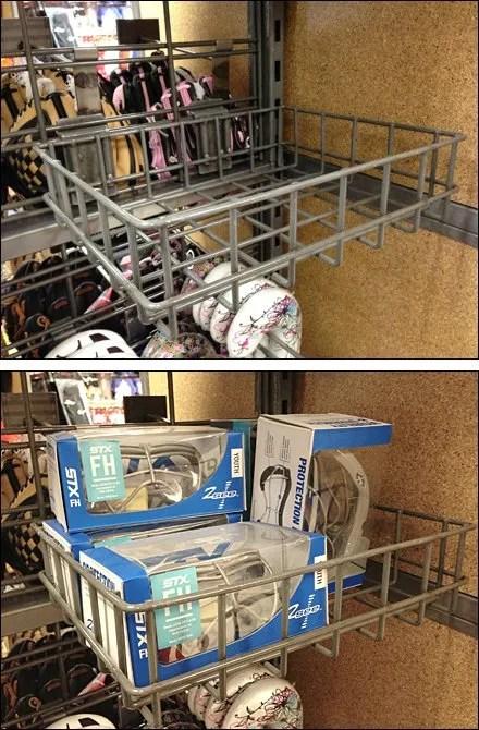 Flat Backplate Wire Basket for Slatwire Main
