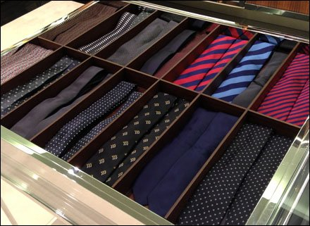 Neckties Two Up in Trays Aux