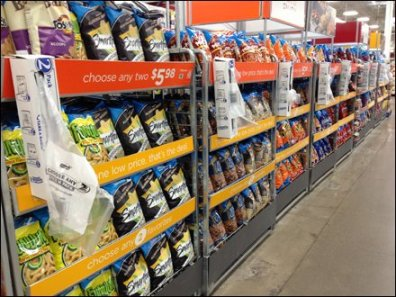 Vertical Bag Dispenser Aisle View