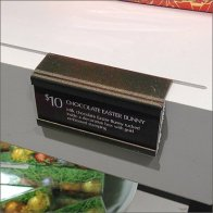 Chocolate Shelf Groove Label Holder