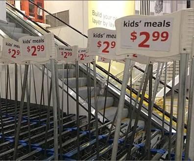 Flotilla of Shopping Cart Flags 3