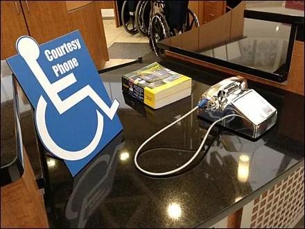 Handicapped as Store V.I.P.