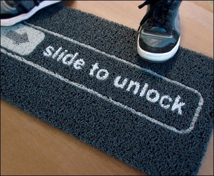 Slide to Unlock Doormat2