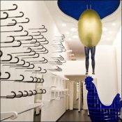 Sword Cane Merchandising Display - Kokoo Boutique, Nicosia J-Hooked Wall Aux