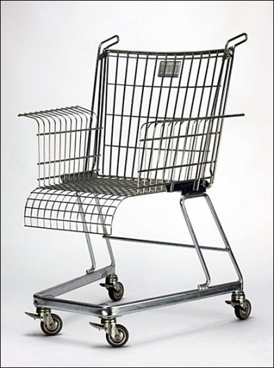 Metal-Off-Main Shopping Cart Wheelchair