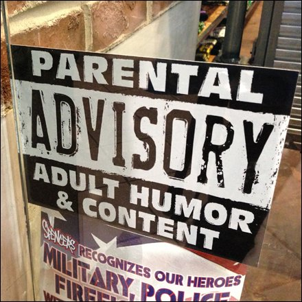 Parent Advisory Adult Humor and Content Main