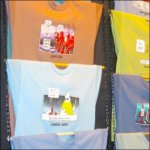 Rod and Chain T-Shirt Display