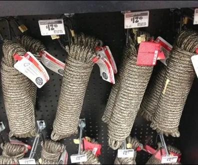 Rope Merchandising By Carabiner Clip