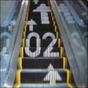 Wayfinding on an Escalator - Escalator Wayfinding Hiromura Masaaki Aux