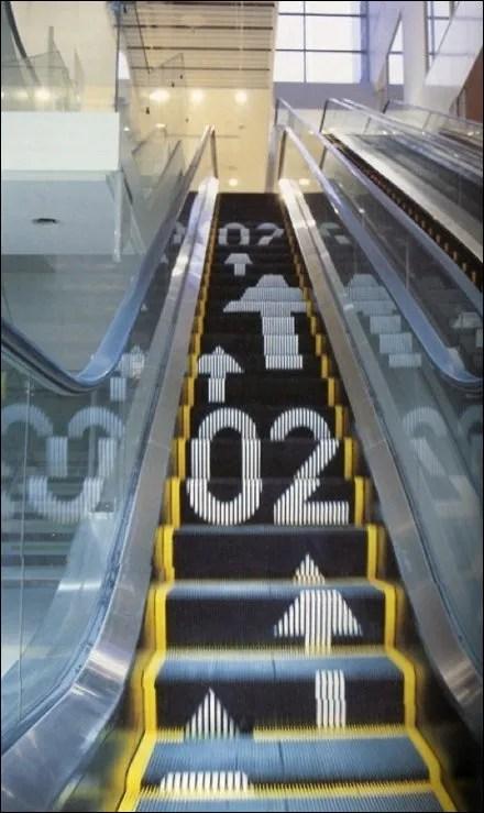 Wayfinding on an Escalator