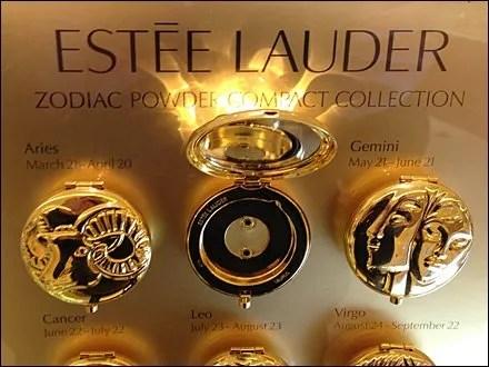 Estee Lader Zodiac Signs Display