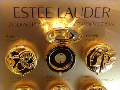 Estee Lader Zodiac Signs Display