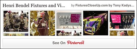 Henri Bendel Fixtures and Merchandising Pinterest Board FixturesCloseUp
