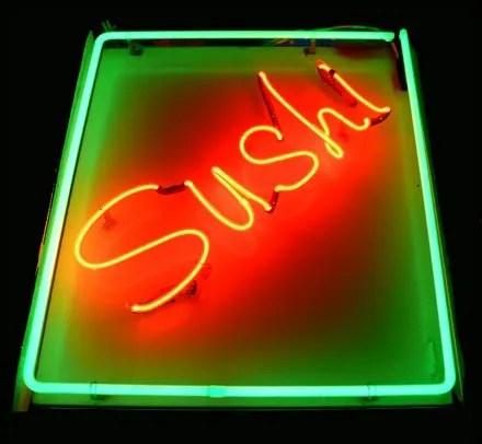 Sushi Merchandising Displays - Neon Sign Sushi Main