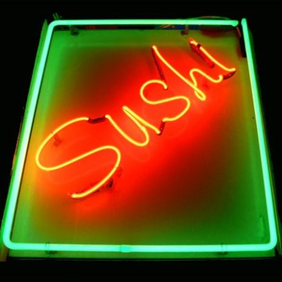 Sushi Merchandising Displays - Neon Sign Sushi Main