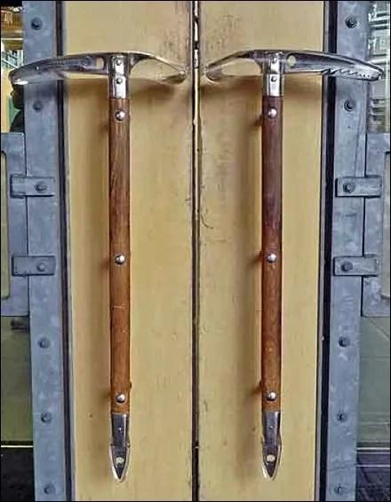 Ice Axe Door Handles by REI