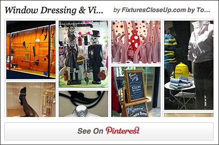 Window Dressing and Visual Merchandising Pinterest Board