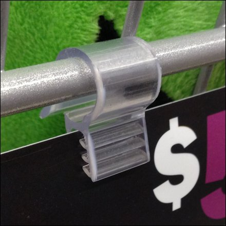 Sign Grip Clips - Wire Basket Wire Shekf Grip Clip 1