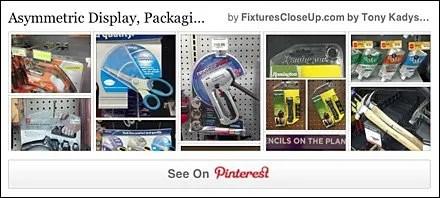 Asymmetric Display, Packaging and Fixtures Pinterest Board FixturesCloseUp