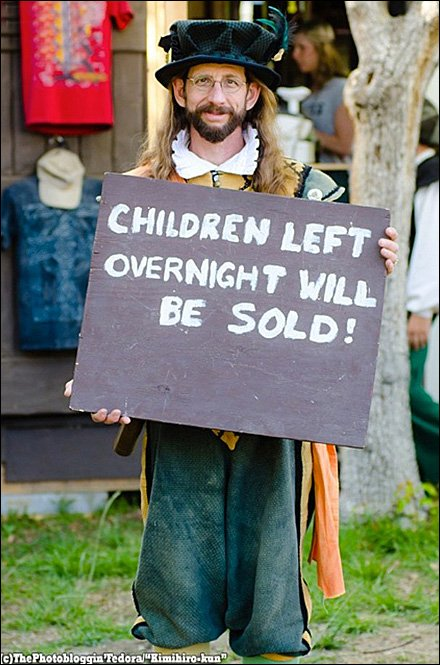 At the Faire! Children Left Overnight Sold Aux