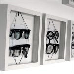 Eyewear in Shadowboxes Frames Overall