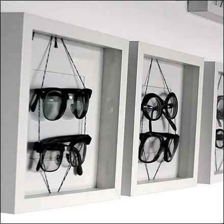 Eyewear in Shadowbox Frames Closeup Main
