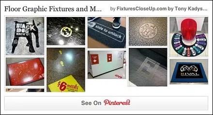 Floor Graphic Fixtures and Merchandising Pinterest Board