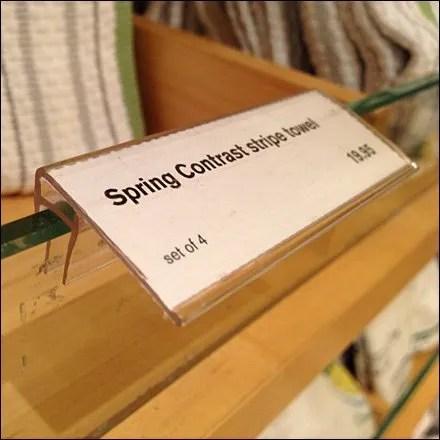 Glass Shelf Edge Holder on Productstop