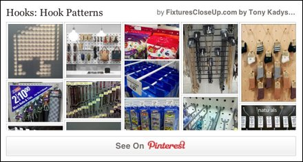 Hook Patterns in Retail Pinterest Board for FixturesCloseUp