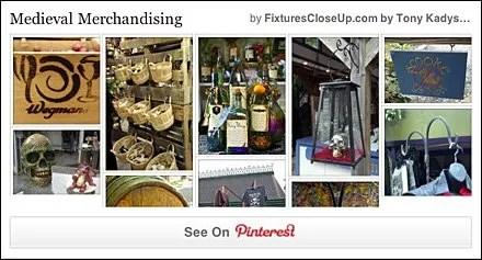 Medieval Merchandising Pinterest Board FixturesCloseUp