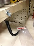 Shelf Edge Magnifier on Tether Aux