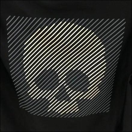 Stripped Skull T-Shirt Closeup