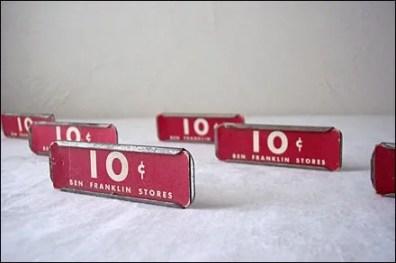 Vintace Glass Shelf Label Holders Main