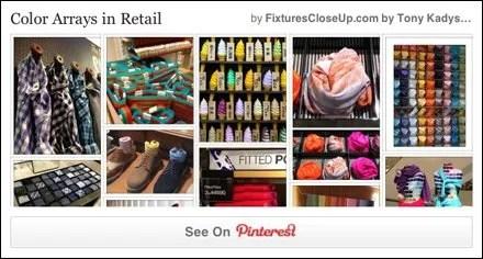 Color Arrays in Merchandising Pinterest Board for FixturesCloseUp