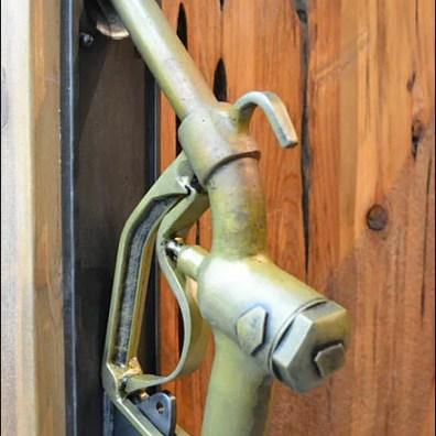 Gas Pump Handle Door Entry