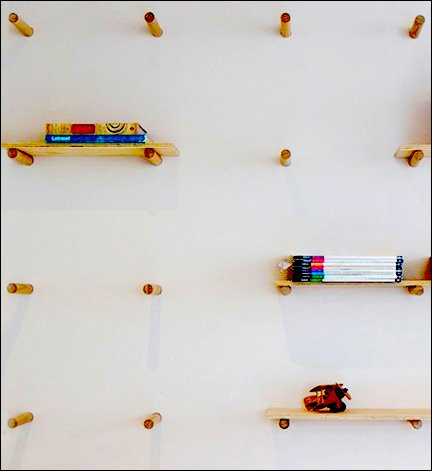 Wood Dowels Can Peg a Retail Wall