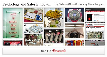 Psychology and Sales Empowerment in Retail Pinterest Board on Fixtures Close Up