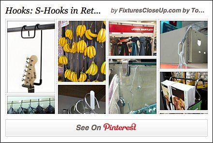 S-Hooks in Retail Pinterest Board