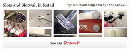 Slots and Slotwall In Retail Pinterest Board on FixturesCloseUp
